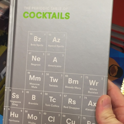 Periodic table cocktail book