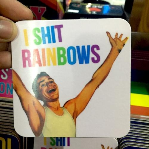 Shit rainbows coaster